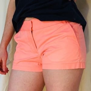 SOLD Tangerine-colored Shorts: 100% cotton